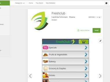 Fresh Club- Android App
