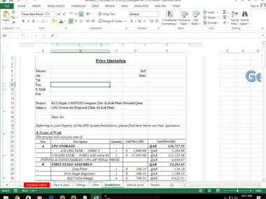 Creating A Price Quotation from the seleted orders (In VBA)