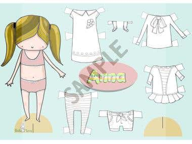 Paper dolls and Clipart