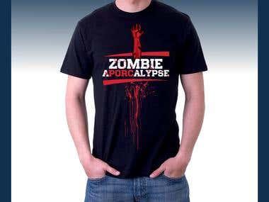 Zombie Aporcalypse t-shirt design