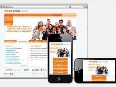 Allegro Group promo web site