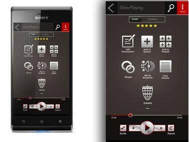Music app design for Red Music