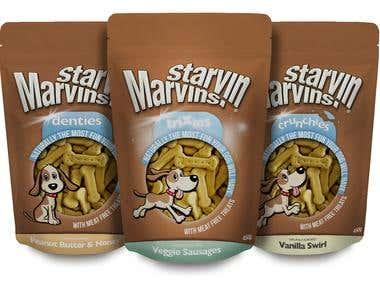 Branding & Packaging Design for Starvin Marvins
