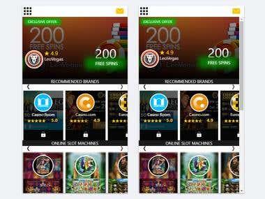 Ionic Casino Game App