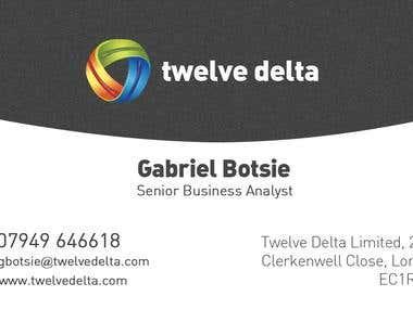 Business Card design for Twelve Delta