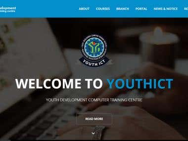 Youthict.org homepage and student management software.