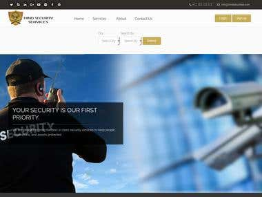 Hind Securities - Security Services Company Website