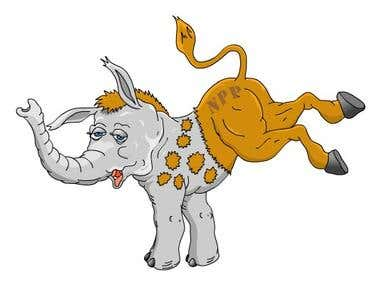 Cartoon caricature mascot illustration design in vector