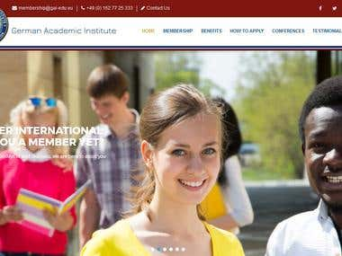 Membership Website For German Academic Institute