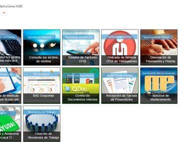 Menu Corporativo de Aplicaciones Web
