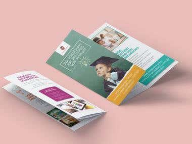 Tri Fold Brochure for Living Kids Books