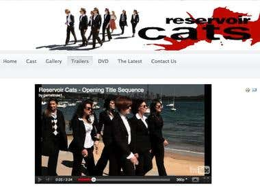 Reservoir Cats Web Site