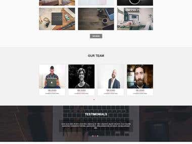One Page Agency Theme