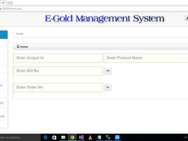 E-Gold Management System
