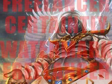 fantasy hero illustration