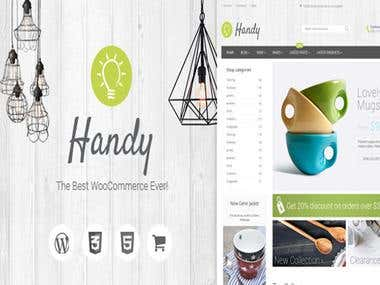 Customization of HandyStore Theme
