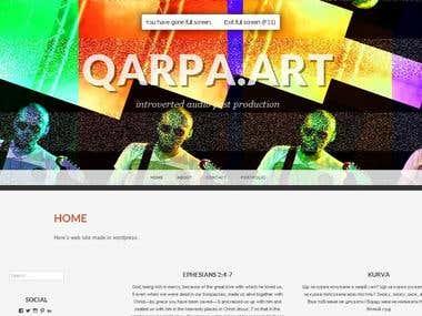 Web site at wordpress platform