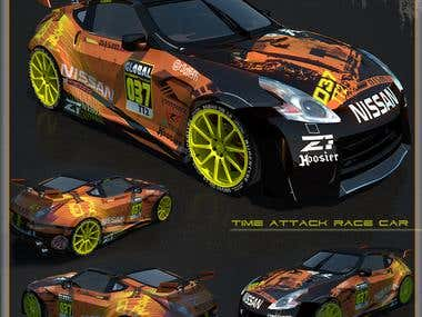 Nissan 370z wrap design