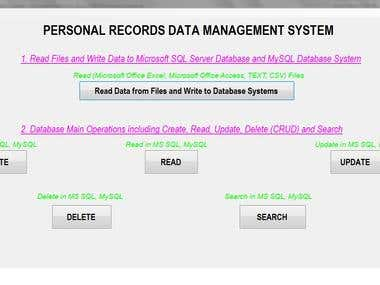 Personal Records Data Management System - 1