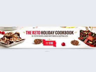 Banners for online recipe book