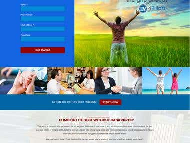 4 Pillars website using Unbounce