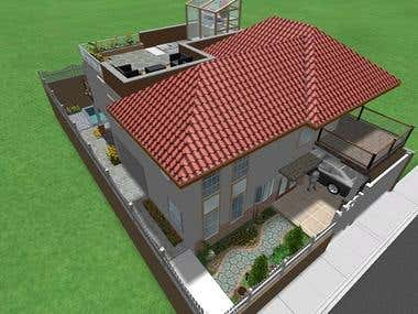 2 storey house plan CAD to 3D