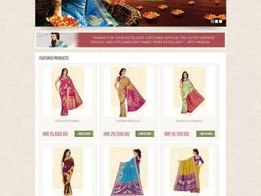 Ecommerce Website for Sarees Selling