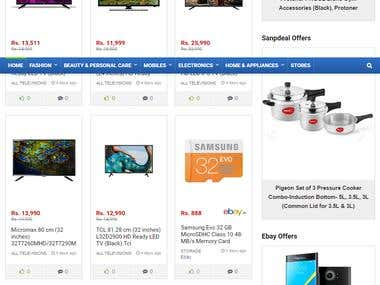 Sale Navigation- The ecommerce platform