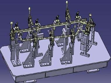 Welding fixtures design for Front Floor panel of TATA-IRIS