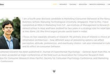 Personal Resume Website Building - WordPress