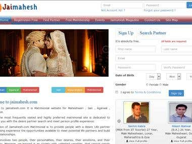 Jaimahesh a Marriage Portal
