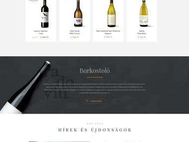 Website design for a wine company