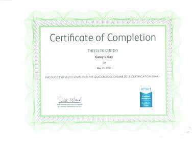 QuickBooks Online Certificate