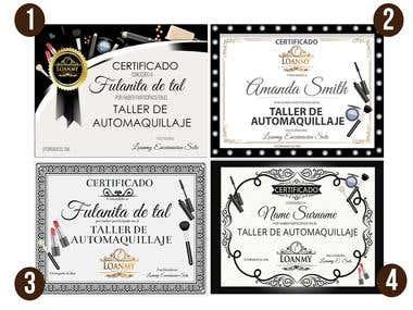 diseño de certificados