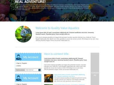 Aquarium Ecommerce Website