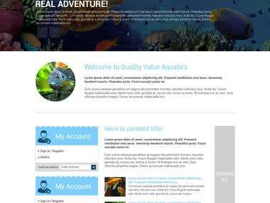 Aquarium Ecommerce Website