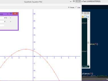 Quadratic Curve Plot with points and line without library