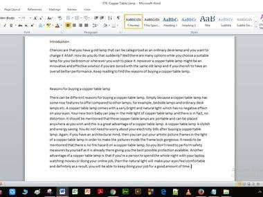 Artile Writing