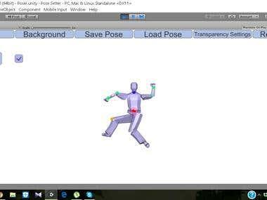 Human Posing with Inverse Kinematics.