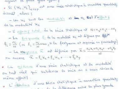 Copy-typing French Mathematics Textbook