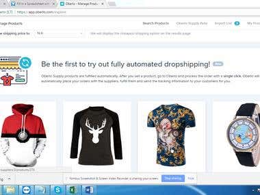 Product Management & Listing on Shopify Using Oberlo
