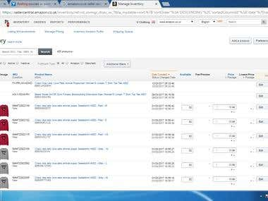 Amazon Inventory Management & Listing