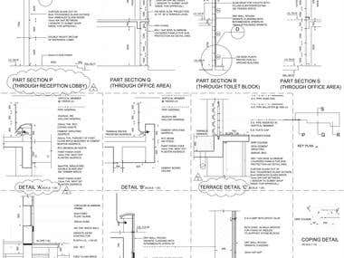 Cad service drawing Detail Drawings