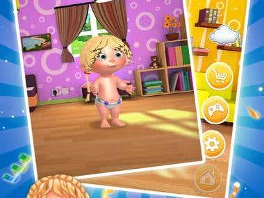 Tamagotchi childcare game