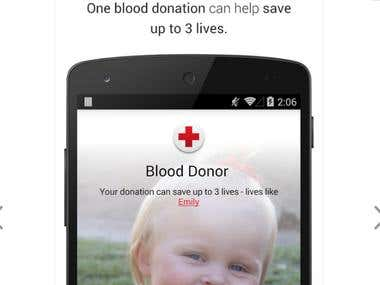 Blood Donar-Android Mobile Design and Development
