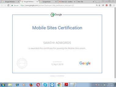 google mobile sites certification