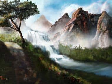 Landscape painting—— Nature Composition