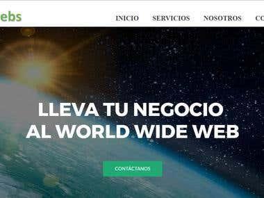 Página Web diseñada en Wordpress