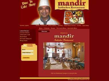 Mandir Indisches Restaurant