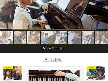 Web Design ( Music Academy )